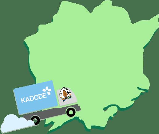 岡山県の地図1