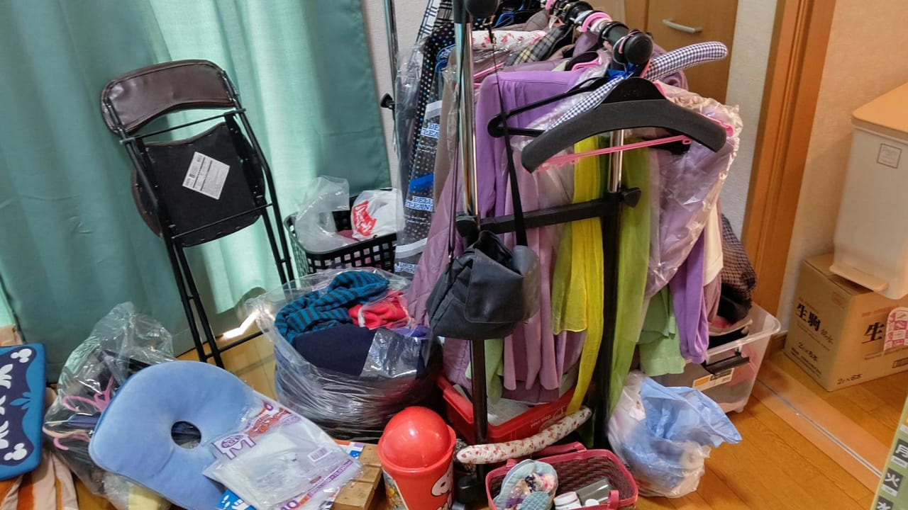 衣類の回収前の画像