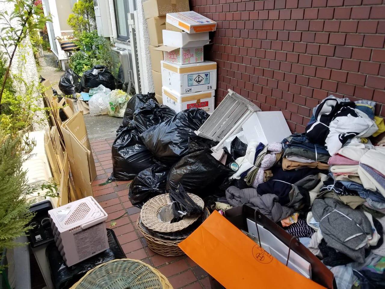 山口県長門市不用品回収前画像