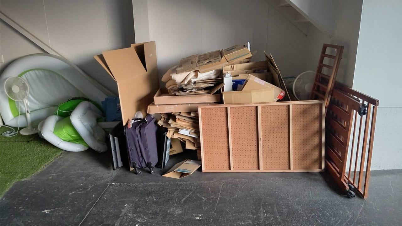福岡県北九州市不用品回収前画像