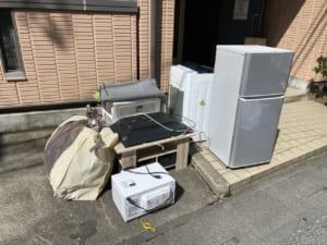 埼玉県越谷市不用品回収前画像