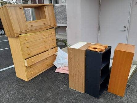 岡山県備前市周辺のT様不用品回収前画像