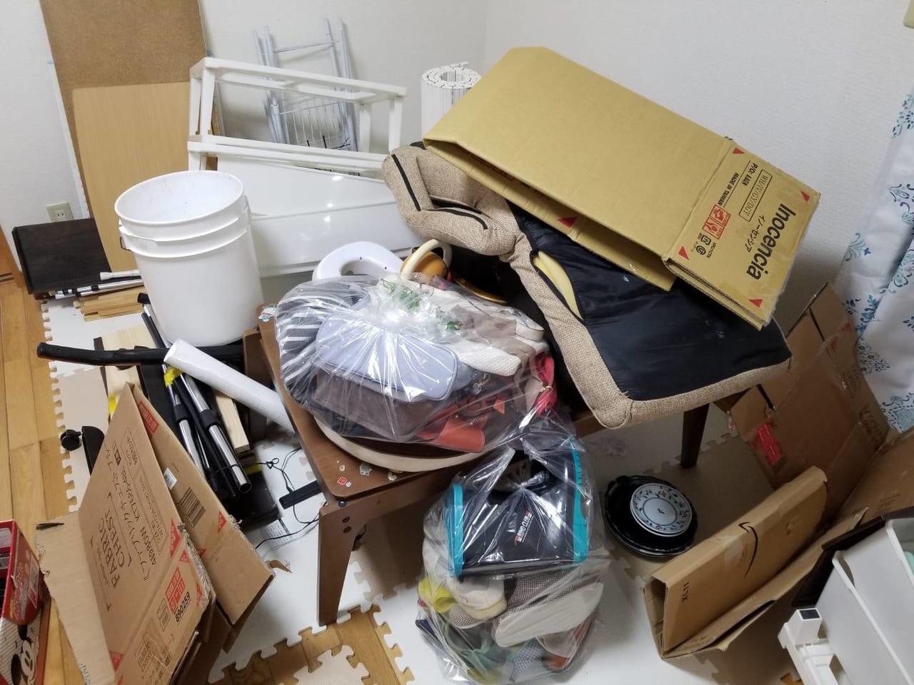 ゴミ屋敷清掃前の画像