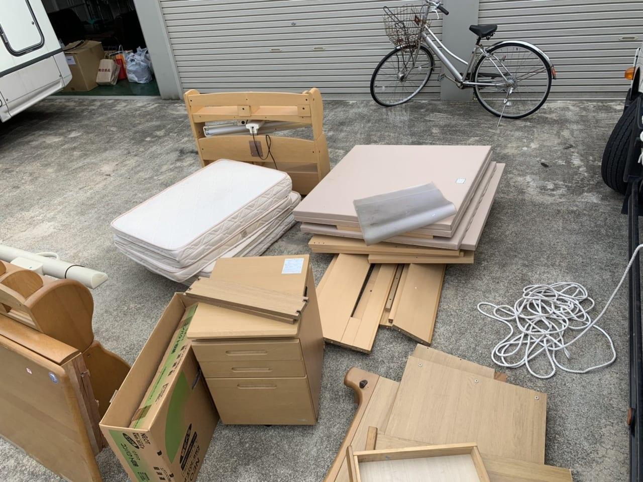 岐阜県各務原市周辺のE様不用品回収前画像