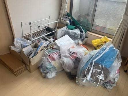 京都府京都市伏見区周辺のH様不用品回収前画像
