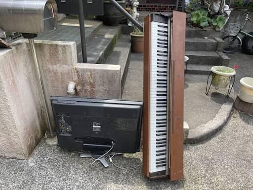 電子ピアノ回収前